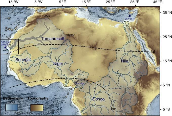 Hace 5000 años el Sahara era un paraíso fluvial