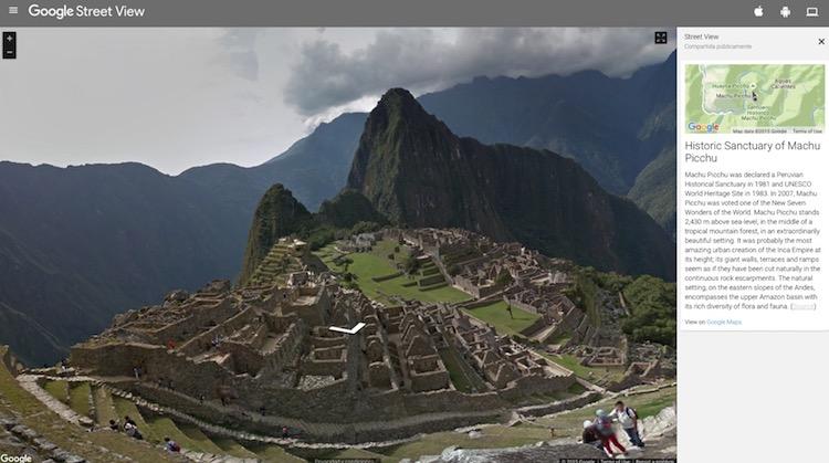 Visita y explora Machu Picchu con Google Street View