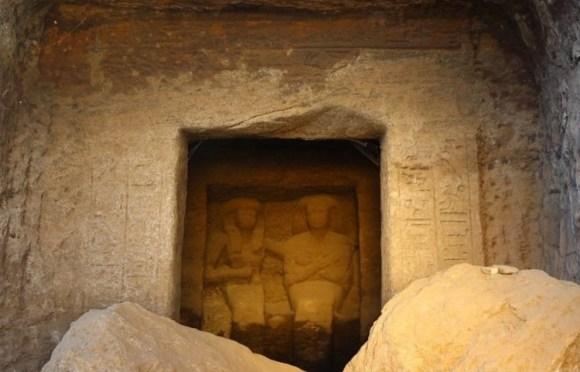Encuentras seis nuevas estatuas funerarias Egipto 1