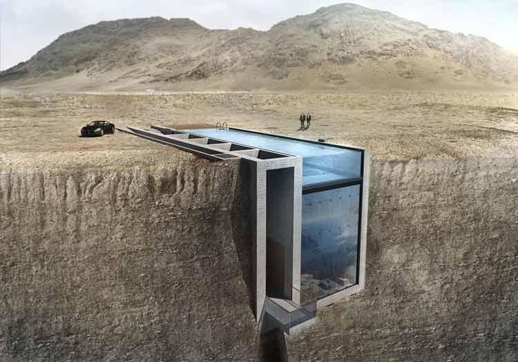 La casa de vértigo colgada sobre un acantilado del Mar Egeo