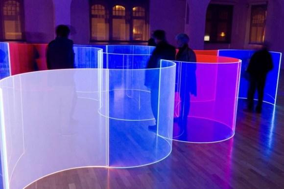 Antigua fabrica cerveza reconvertida museo arte luminoso