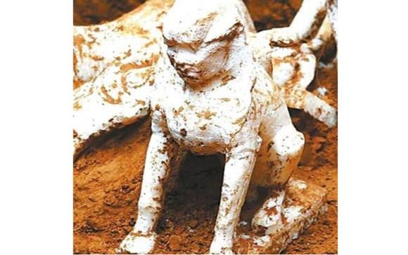 Encuentran esfinge milenaria tumba china 2