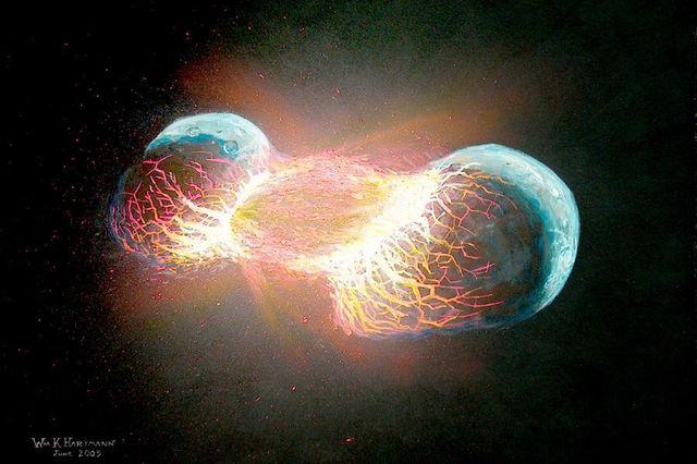 Estudio afirma que la Tierra es resultado de la fusión de dos planetas