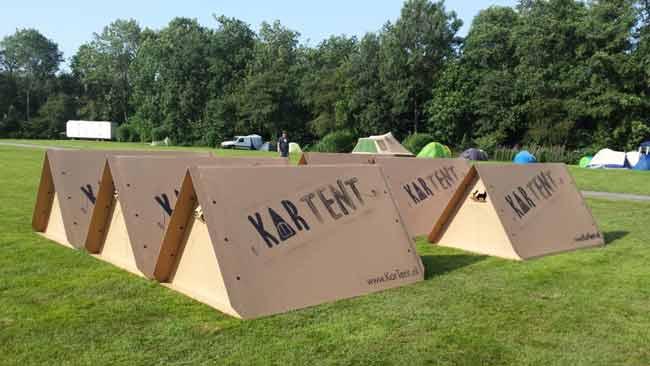 Inventan una revolucionaria tienda de campaña de cartón