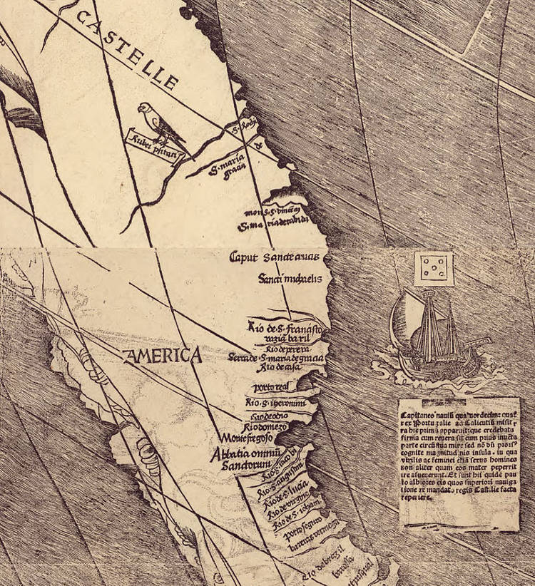 Universalis Cosmographia primer mapa nombra America 2