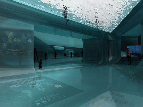 Arquitectos espñaoles diseñan pabellon sumerge emerge mar 1