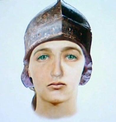 El rostro de Juana de Arco, reconstruido en 2007