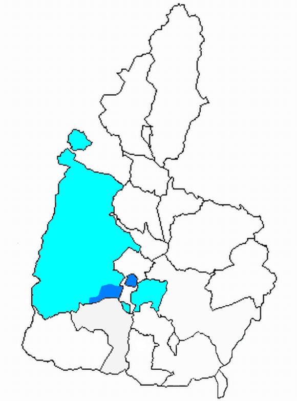 El original término municipal de Tremp, en el centro