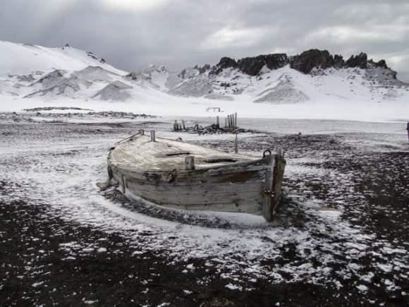 El bote abandonado en Bouvet