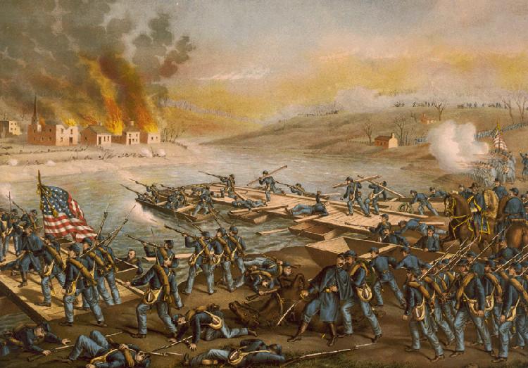 Batalla bolas nieve acabo pelea multitudinaria soldados mismo bando Guerra Secesión
