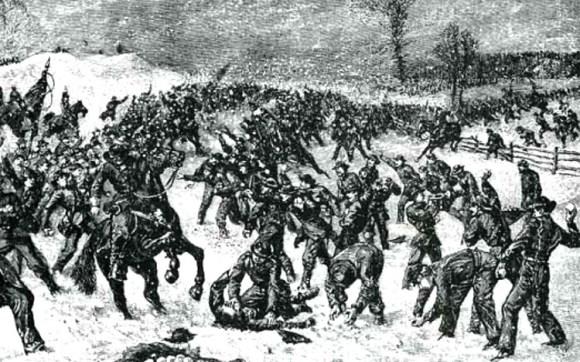 Batalla bolas nieve acabo pelea multitudinaria soldados mismo bando Guerra Secesion