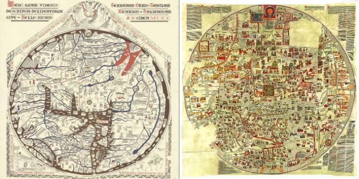Los mapamundis de Herefors y ebstorf atlas visuales del Medievo
