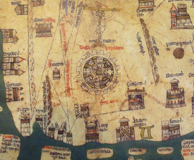 Mapamundis Hereford Ebstorf atlas visuales del Medievo