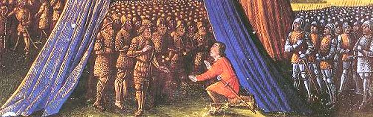 Balián rinde Jerusalén a Saladino