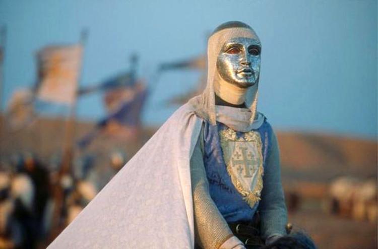 Balduino IV, el Rey Leproso, en la película (interpretado por Edward Norton)