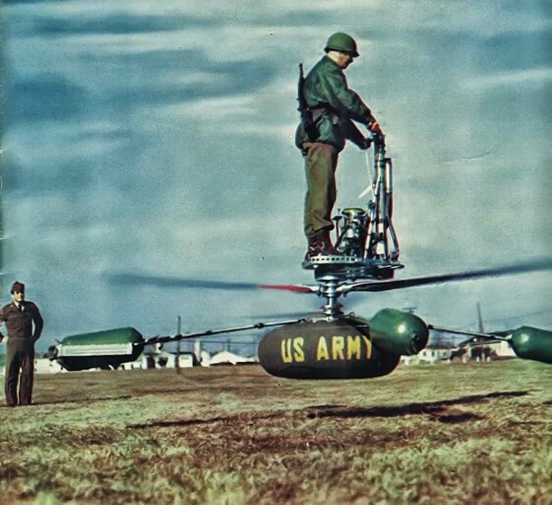 El helicóptero personal desarrollado en los años 50 para crear una ultramoderna caballería