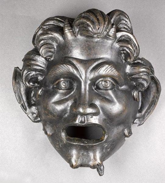 Máscara de Pan hallada en Hippos