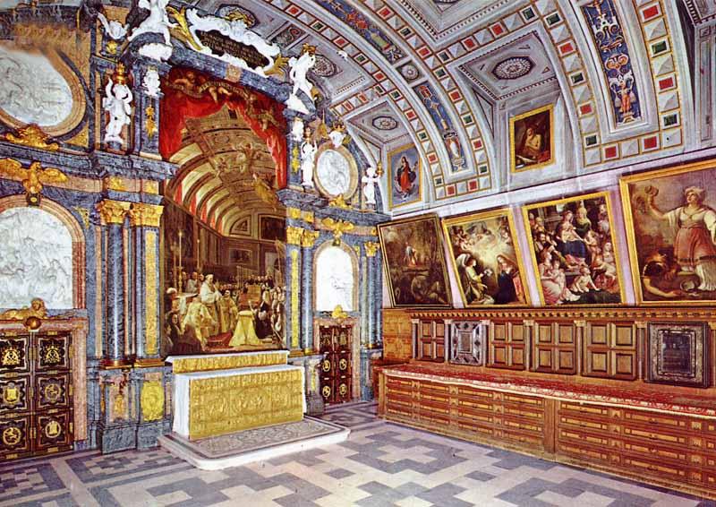 El cuadro en la sacristía de El Escorial