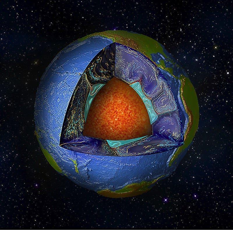 Dos gigantescas estructuras bajo el manto terrestre