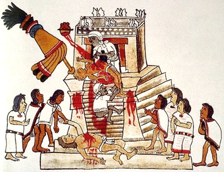 Exterminio sagrado Krypteia Herem sacrificios humanos aztecas