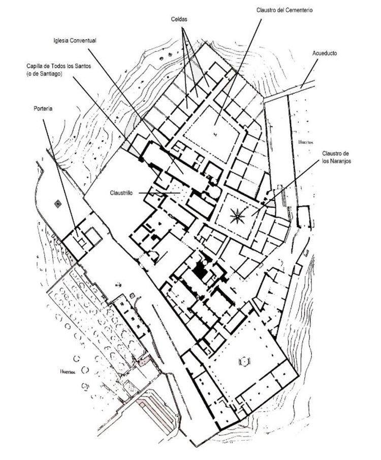 Plano del monasterio en el siglo XV