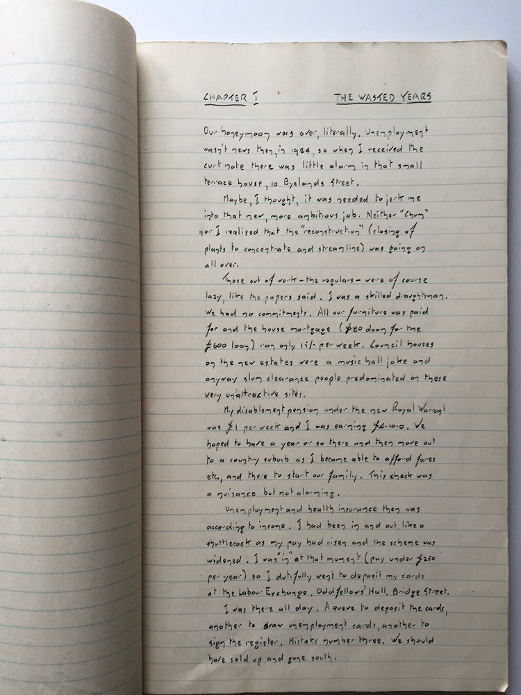 Una página del diario de Whitfield