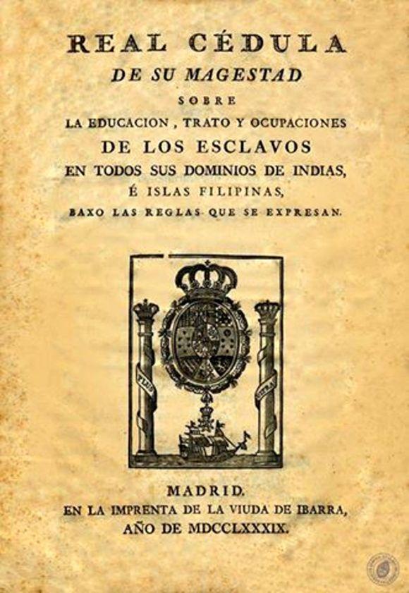 Codigo Negro Real Cedula 1789