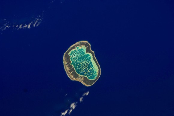 Mataiva atolon laguna reticulada interior