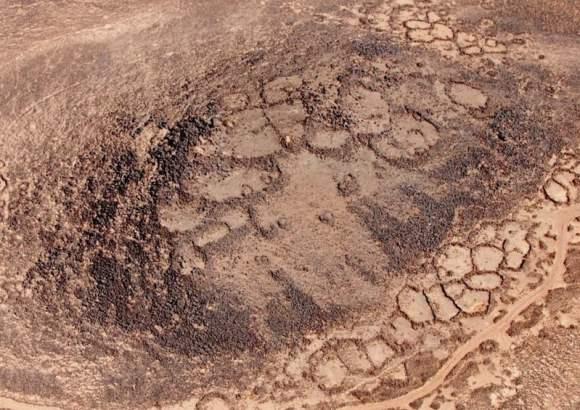 Vista aérea de Khirbet Abu al-Husayn