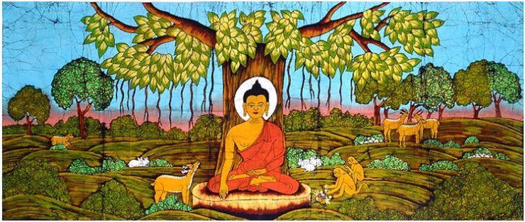 Resultado de imagen de La iluminación debajo del árbol Bodhi.