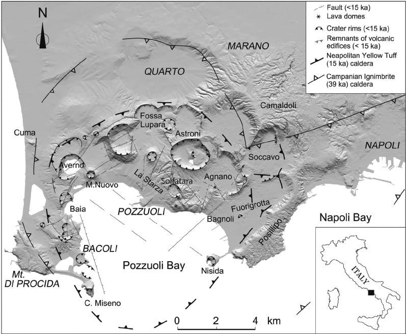 Mapa de los Campos Flégreos