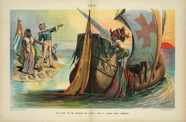 Caricatura de la revista satírica estadounidense Puck
