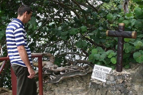 La Cruz de la Parra, única de las 29 plantadas por Colón en América que se conserva