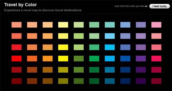 Elegir destino de vacaciones según el color