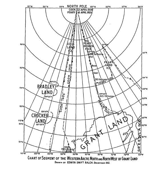 Supuesta situación de la Tierra de Crocker / foto Dominio Público en Wikimedia