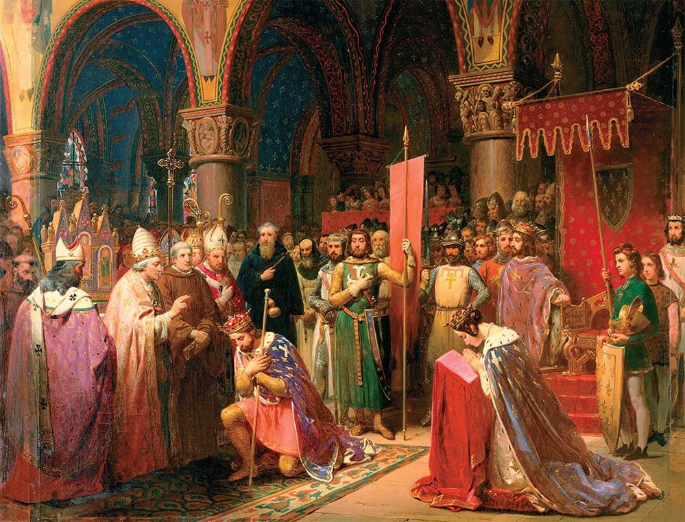 La Oriflama, el emblemático estandarte de guerra de la Francia medieval