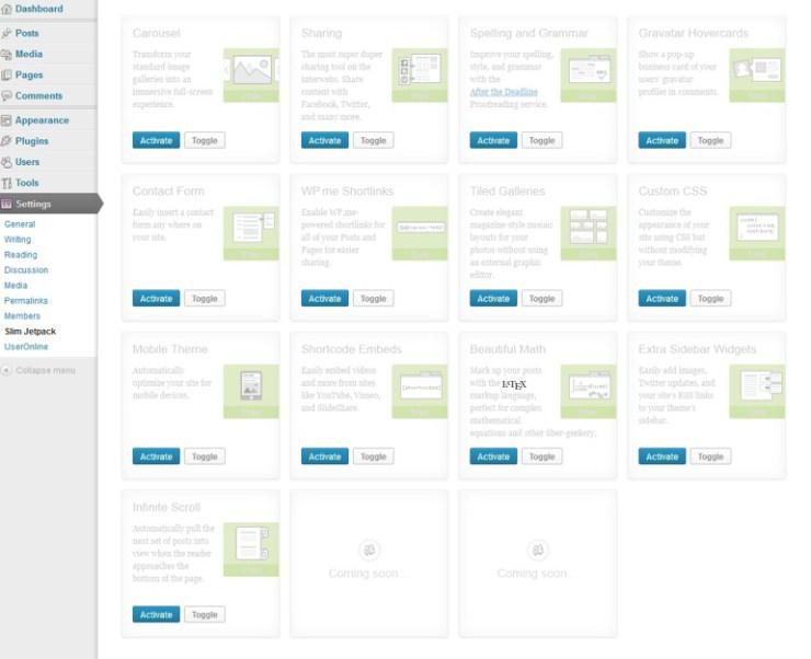 Cómo usar el plugin Jetpack sin conectarse a WordPress.com