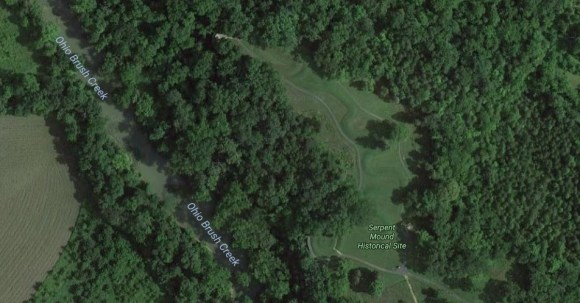 Serpent Mound en Google Maps