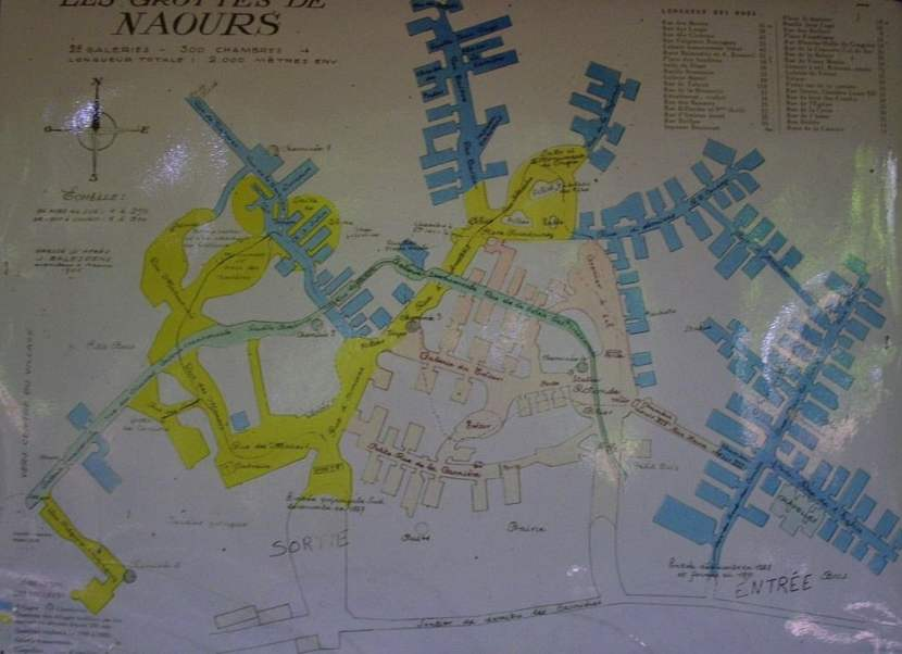 Plano de la ciudad subterránea / foto: Raphodon en Wikimedia Commons