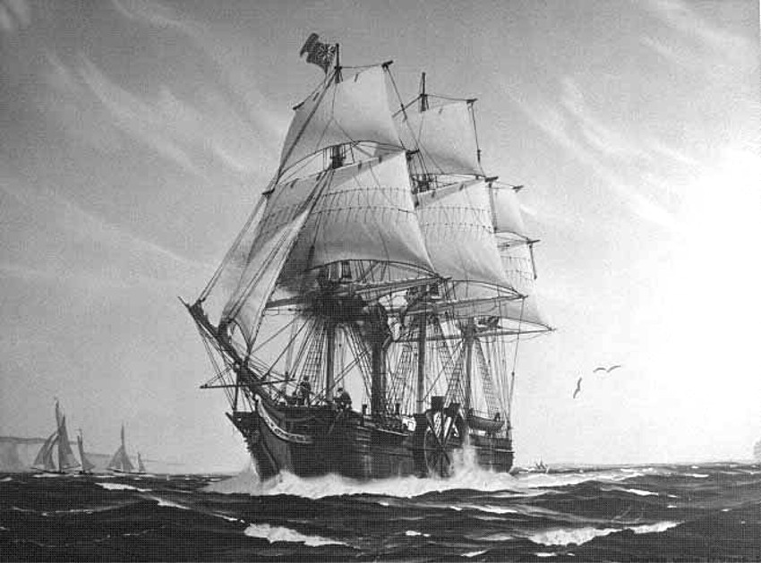 SS Savannah, el primer barco de vapor que cruzó el océano Atlántico