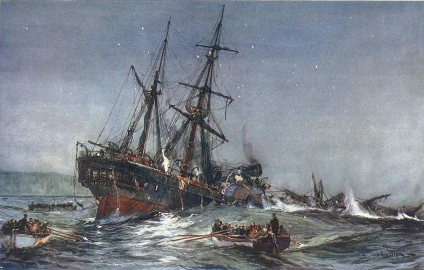 """El trágico naufragio del HMS Birkenhead, origen del protocolo de salvamento """"las mujeres y los niños primero"""""""