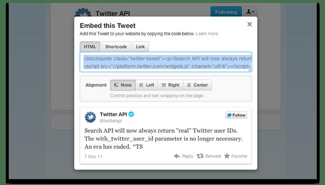 Twitter crea los tweets interactivos para insertar en blogs y webs