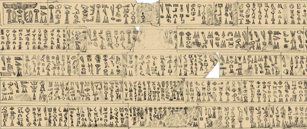 Una inscripción que explica los acontecimientos del final de la Edad del Bronce en el Mediterráneo Oriental