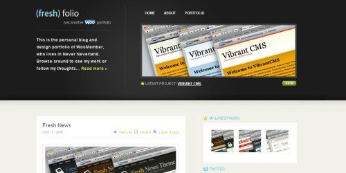 Themes (15+) para usar WordPress como portfolio