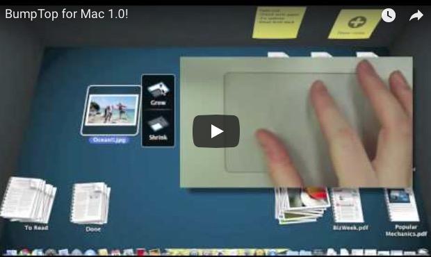 BumpTop, un escritorio 3D para Mac