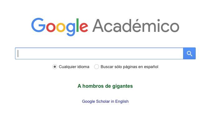 Google Académico, la versión en español de Google Scholar