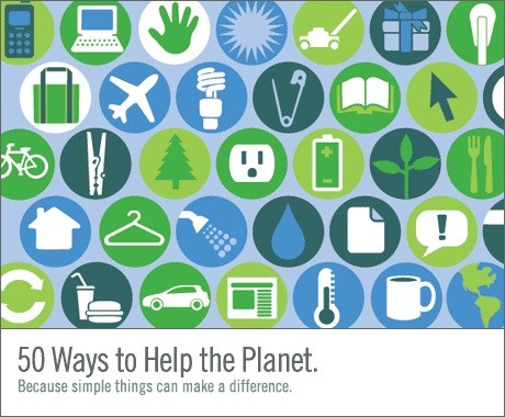 50 formas de ayudar a salvar la Tierra