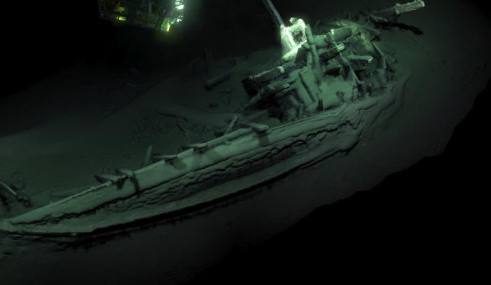 Descubren en el Mar Negro un barco intacto de 2.400 años