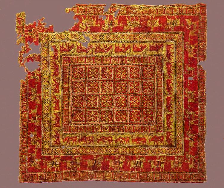 La alfombra más antigua del mundo, encontrada en una tumba de la Edad del Hierro