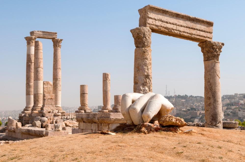 La mano de Hércules en el Gran Templo romano de Amán
